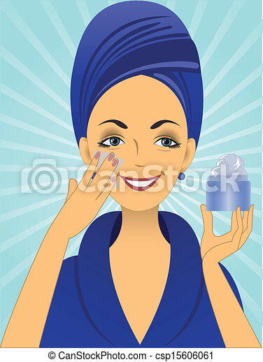 Girl in blue - csp15606061