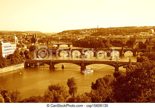 Bridges In Prague - csp15606130
