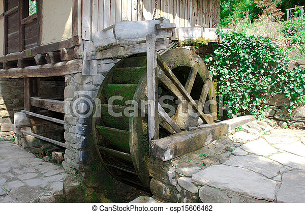 old historic sawmill - csp15606462