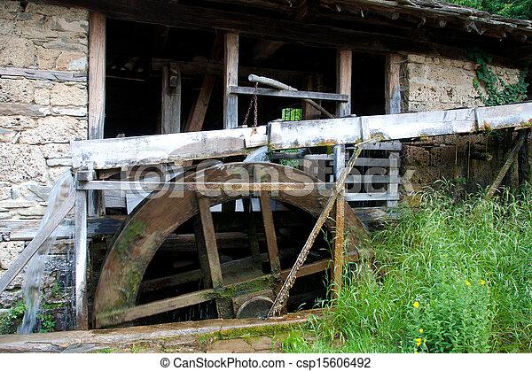 old historic sawmill - csp15606492