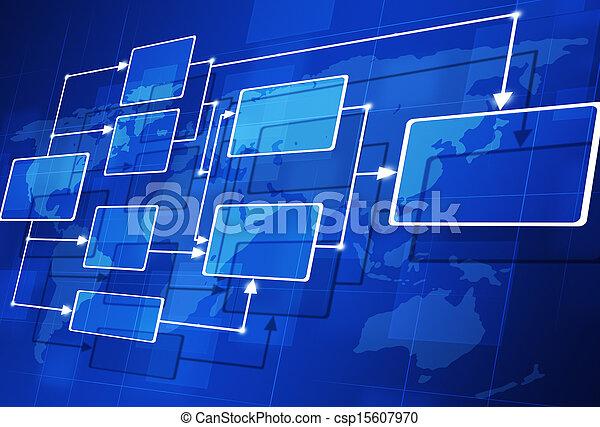 astratto, diagramma flusso - csp15607970