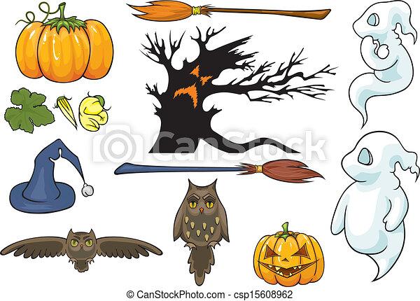 Halloween theme set.  - csp15608962