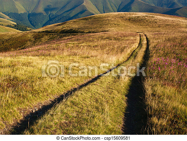 Road to the distant mountains - csp15609581