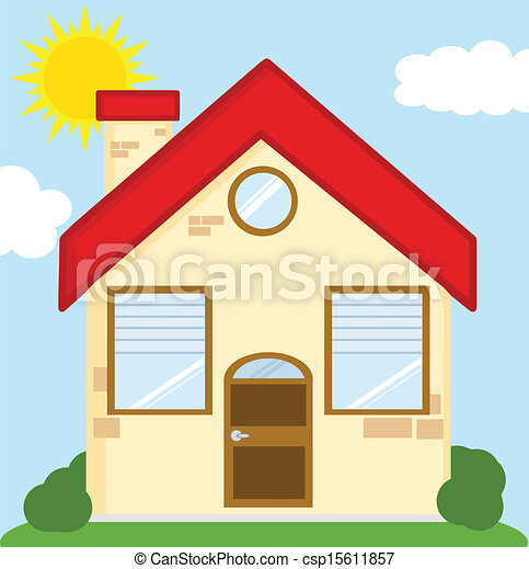 Vecteur clipart de maison dessin anim illustration for Image maison dessin