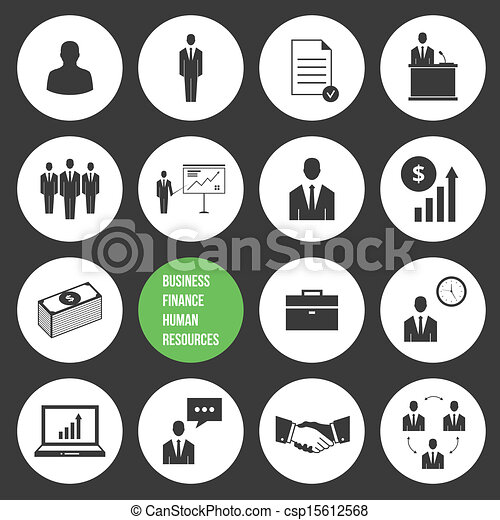 Clip Art Vector of Vector Business Management and Human Resources ...