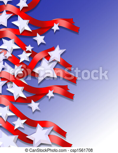 Stars and Stripes Patriotic Background - csp1561708