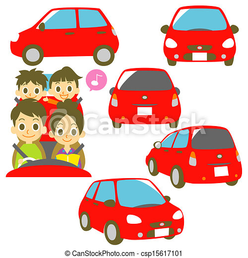 Stock Illustration Of Family In A Car Driving Family In