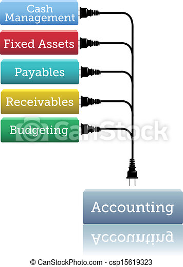 Accounting financial books plug in - csp15619323