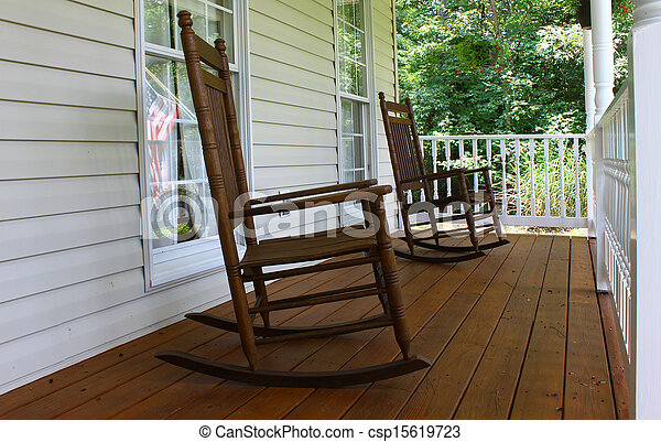 Wooden Rocking Chairs For Front Porch