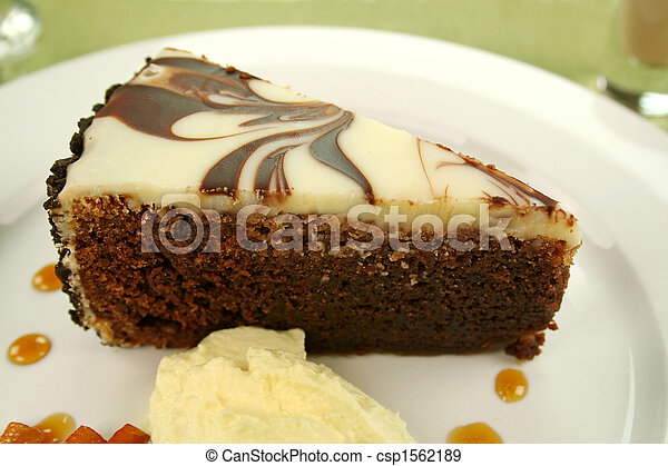 Chocolate Cake Slice - csp1562189