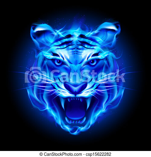 vector of head of fire tiger in blue illustration on baby monkey clipart black and white baby monkey clipart png
