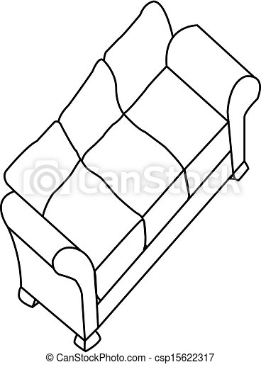 Modern Furniture Drawings vector clip art of modern sofa csp15622317 - search clipart