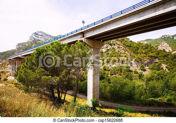 Road bridges in mountains  - csp15622688
