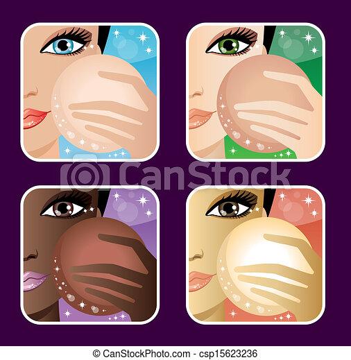 Set of Makeup Young European