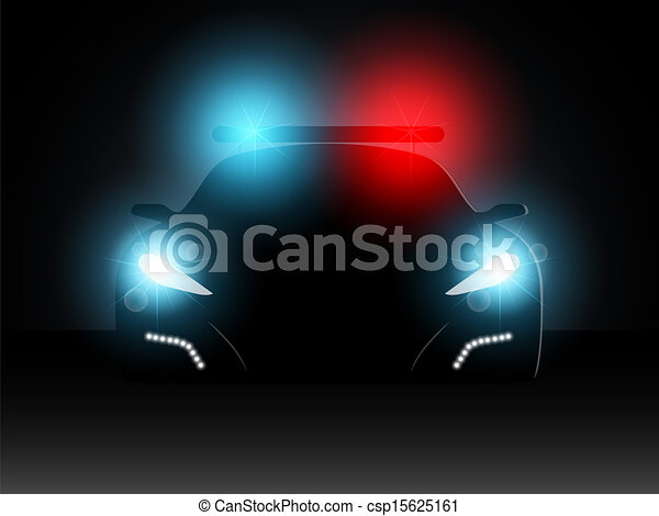 Police Car Headlights Police Car
