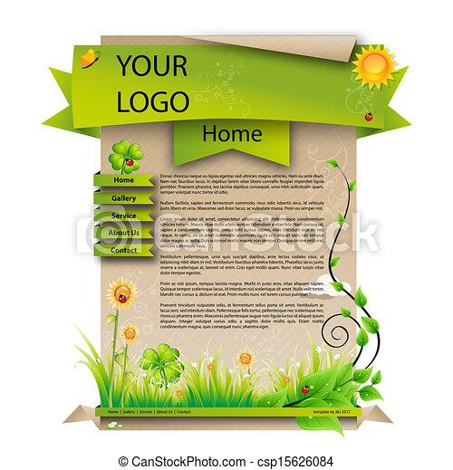Spring web design template - csp15626084