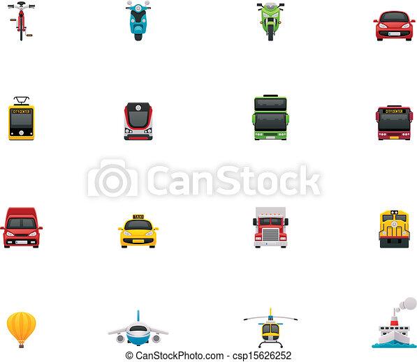 Vector transportation icon set - csp15626252