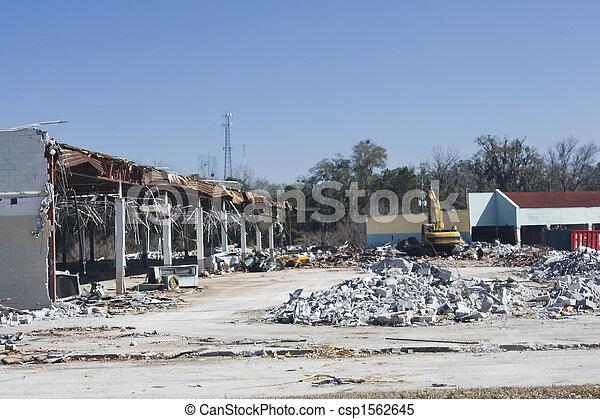 old retail store destruction - csp1562645