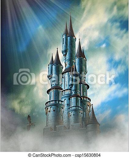 Fantasy Castle - csp15630804
