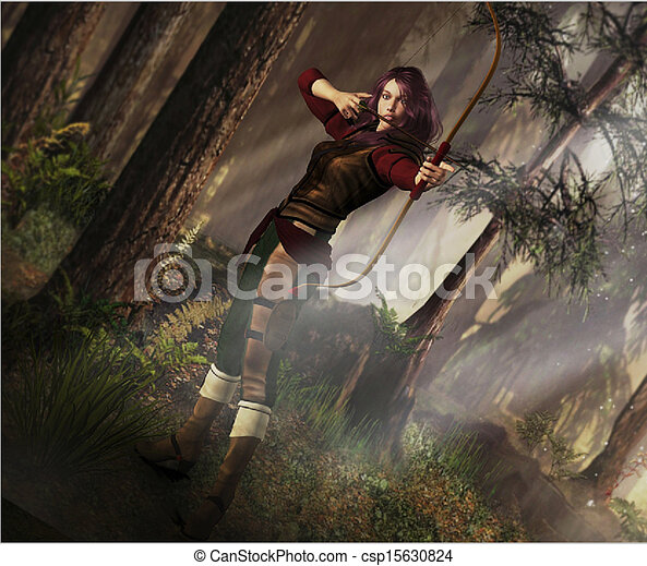 Fantasy Archer - csp15630824