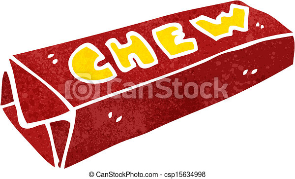EPS Vectors of retro cartoon chewing gum - Retro cartoon ...