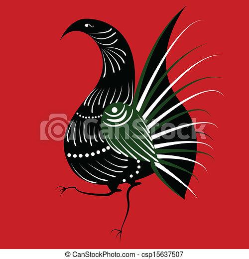 Russian Bird Vector Bird in The Russian