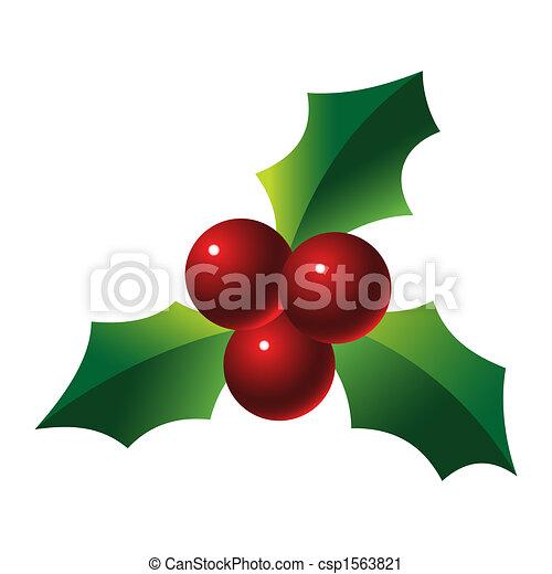 Holly sprig - csp1563821