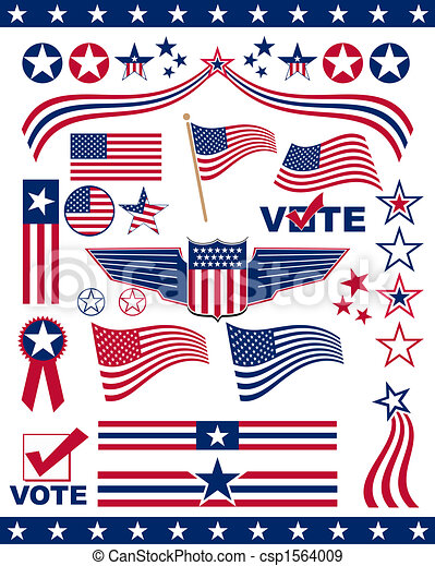American Patriotic Elements - csp1564009