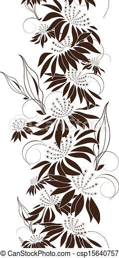 Seamless floral design - csp15640757