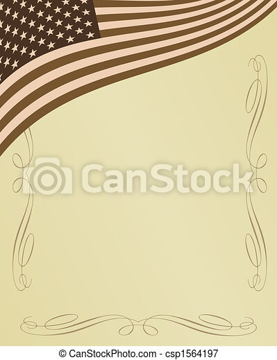 American patriotic background - csp1564197