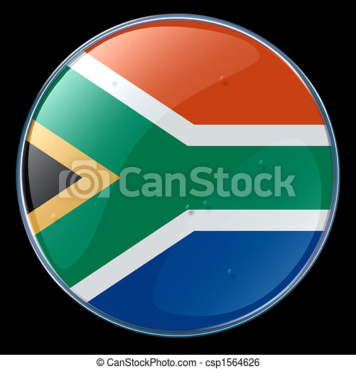 South Africa Flag Button - csp1564626