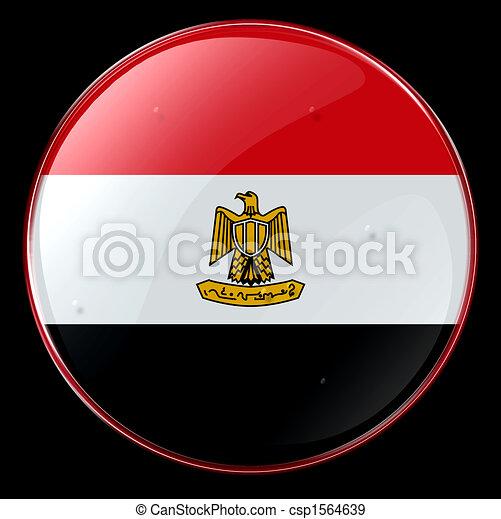 Egypt Flag Button - csp1564639