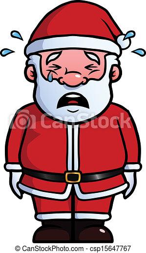 Santa Claus crying - csp15647767