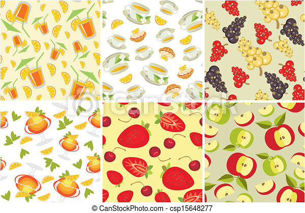 seamless background with food - csp15648277