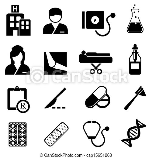 Healthcare and medical icons - csp15651263
