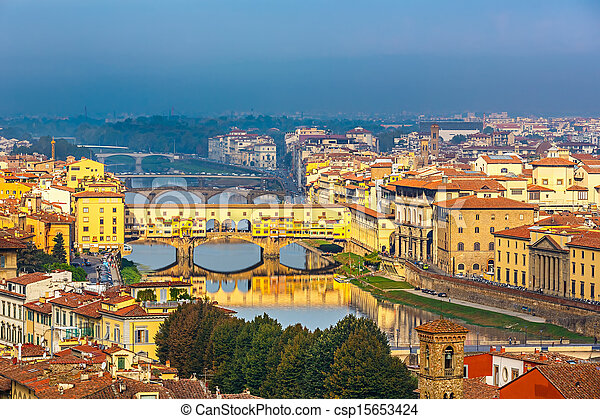 Bridges over Arno river in Florence - csp15653424