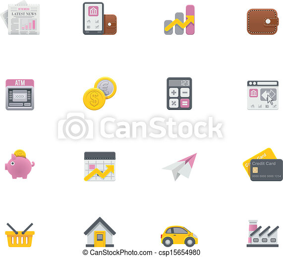 Vector banking icons - csp15654980