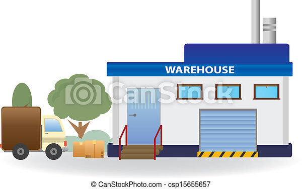 Clipart Vector of Warehouse. Vector for you design ...