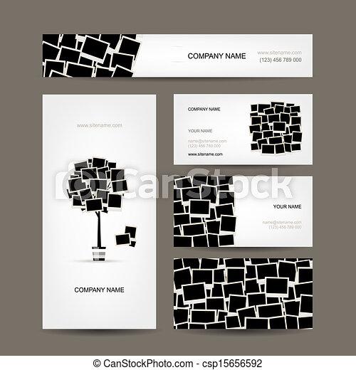 Business cards design, photo frames - csp15656592