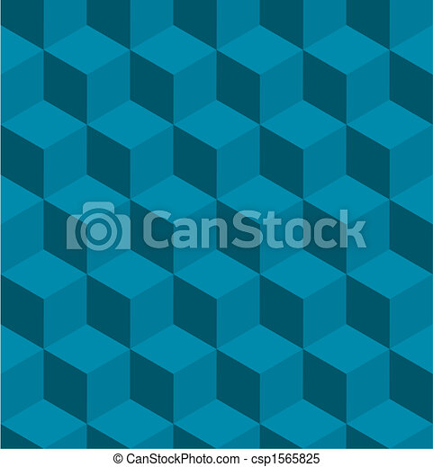 Seamless tilable isometric cube pattern - csp1565825