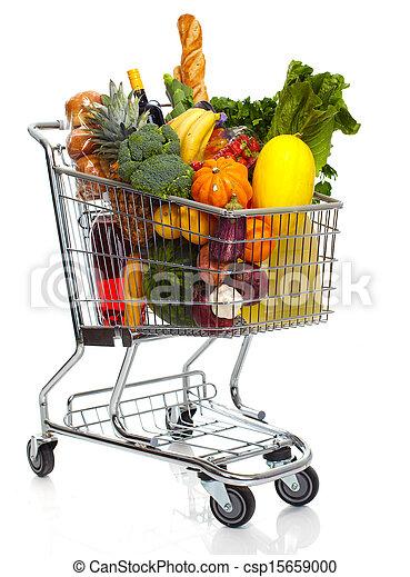 Full Grocery Cart Clipart Full grocery cart
