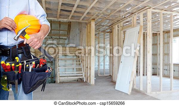 Handyman with a tool belt. - csp15659266