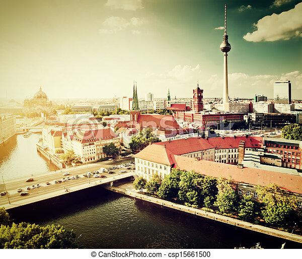 Berlin, Germany view on major landmarks - csp15661500