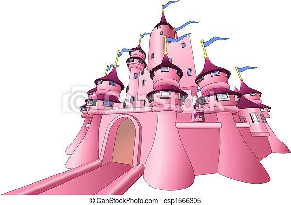 Illustration of fairy castle - csp1566305