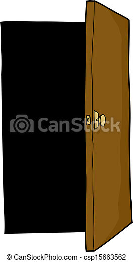 Open Door Clipart clip art vector of open door - dark area behind open door on