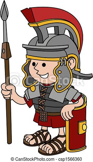 Illustration of Roman soldier - csp1566360