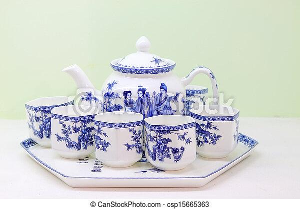 exquisite works, ceramic crafts teacup - csp15665363