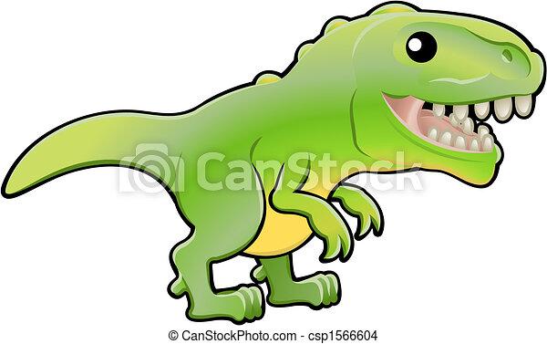 Cute tyrannosaurus rex dinosaur illustration - csp1566604