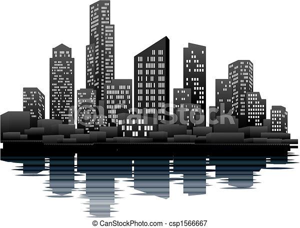 Night time city - csp1566667
