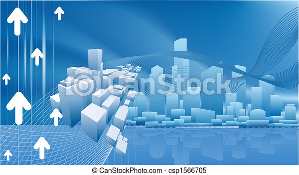 Conceptual city business background - csp1566705